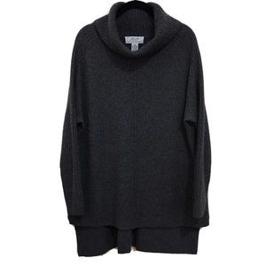 PLY CASHMERE high low cowl neck sweater AO13